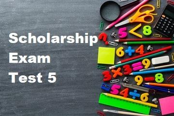 Scholarship Test 5